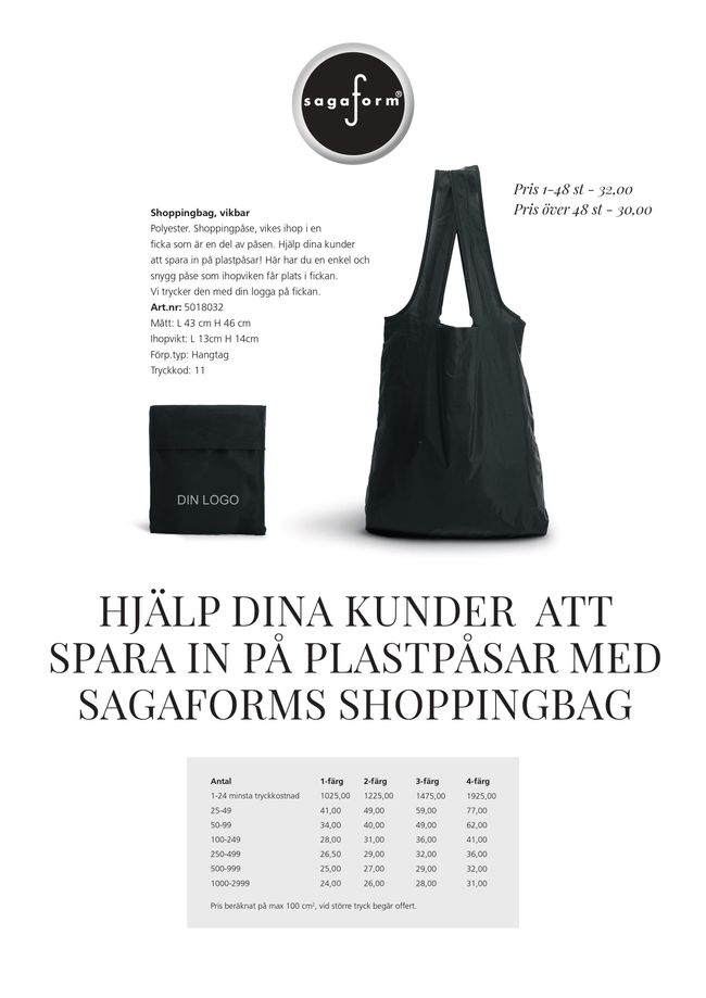 Sagaform shoppingbag